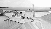 Artist's rendering of Cowans Ford Dam prior to construction.