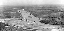 1959 - The Catawba River during the construction of Cownas Ford Dam.