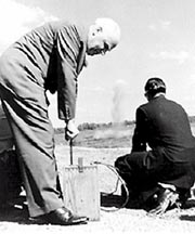 September 28, 1959 - North Carolina's Governor Hodges at the groundbreaking of Cowans Ford Dam.